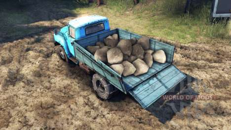 The load of watermelons and stones for Spin Tires