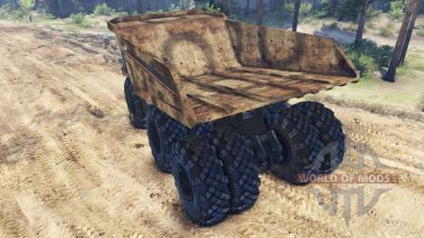 Dump truck 6x6 for Spin Tires