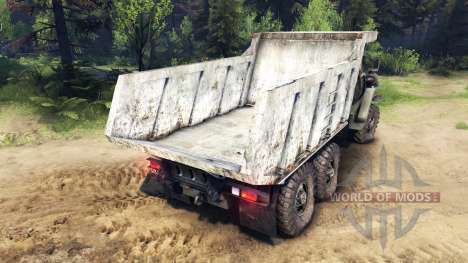The body of the truck on Ural for Spin Tires