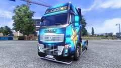 Color-Rockstar Energy Drink - on tractor Volvo