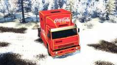 KamAZ 54112 eat Christmas without garlands