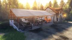The shed and the house instead of the garage for Spin Tires