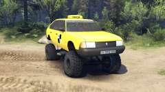 AZLK Moskvich 2141 taxi monster v1.1 for Spin Tires