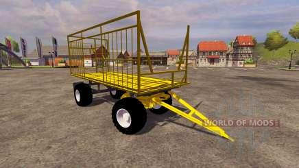 Yellow trailer for Farming Simulator 2013
