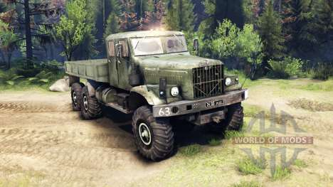 KrAZ-255 with extended cab for Spin Tires