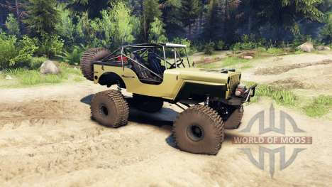 Jeep Willys tan for Spin Tires