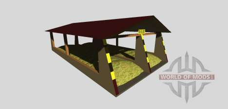 Silage pit with a canopy v2.0 for Farming Simulator 2013