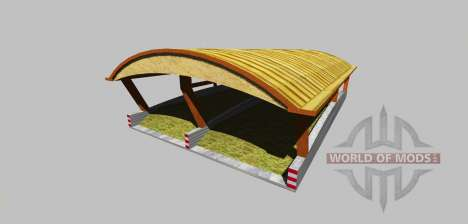 Silage pit with a canopy v3.0 for Farming Simulator 2013