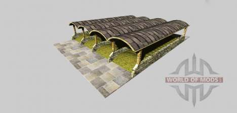 Silage pit with a canopy v3.2 for Farming Simulator 2013