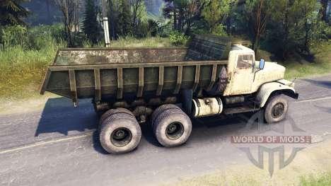 KrAZ-256 for Spin Tires