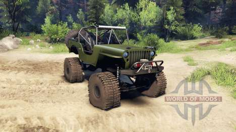 Jeep Willys green for Spin Tires