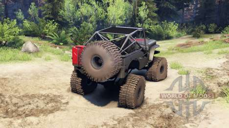Jeep Willys black for Spin Tires