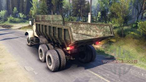 KrAZ-256 for Spin Tires