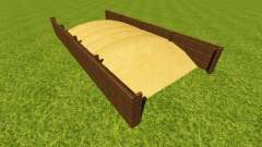 Silage pit for crops