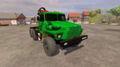 Ural-5557 crane green for Farming Simulator 2013