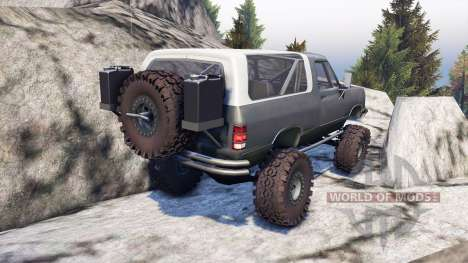 Dodge Ramcharger II 1991 grey and white for Spin Tires