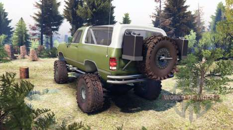 Dodge Ramcharger II 1991 green for Spin Tires