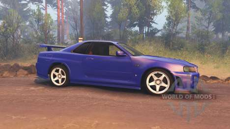 Nissan Skyline R34 GT-R NISMO Z-tune for Spin Tires