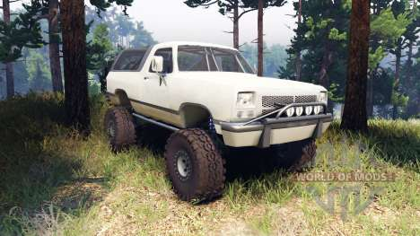 Dodge Ramcharger II 1991 beige for Spin Tires