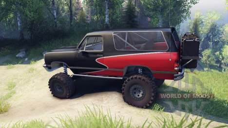 Dodge Ramcharger II 1991 red and black-clean for Spin Tires