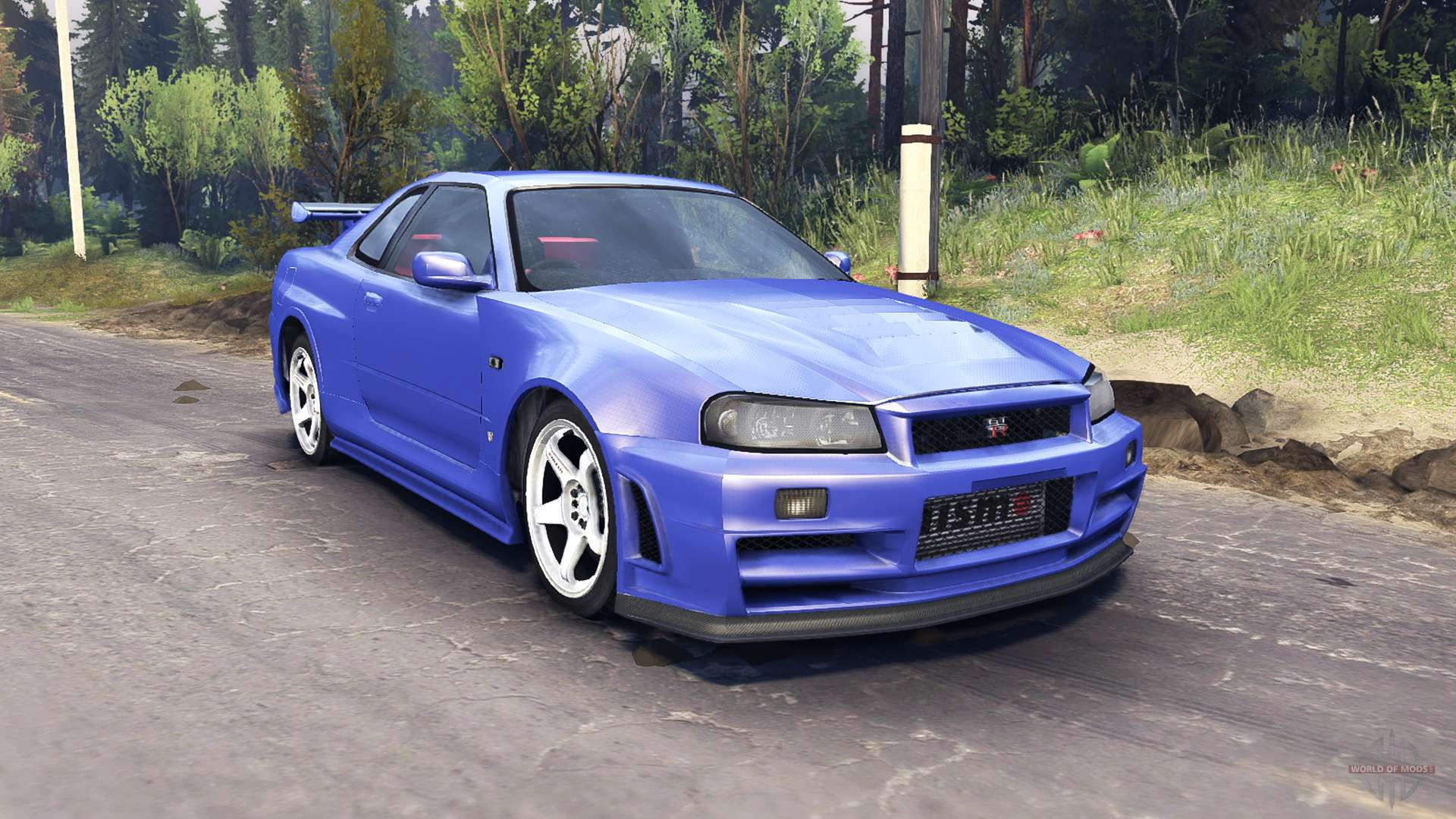 Nissan Skyline R34 Gt R Nismo Z Tune For Spin Tires