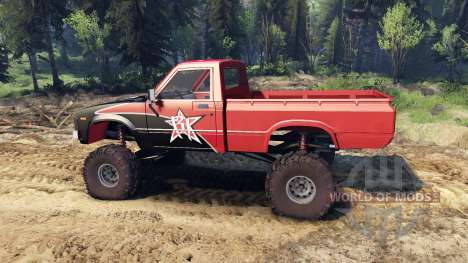 Toyota Hilux Truggy 1981 v1.1 rigid industries for Spin Tires