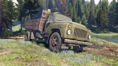 GAZ-53 green for Spin Tires