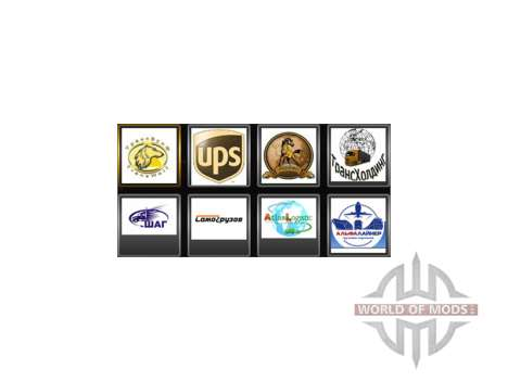 Company logos for the driver for Euro Truck Simulator 2