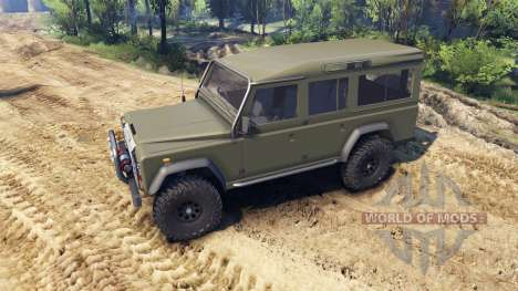 Land Rover Defender 110 flat green for Spin Tires