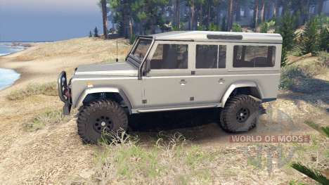 Land Rover Defender 110 silver for Spin Tires