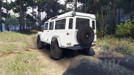 Land Rover Defender 110 white for Spin Tires