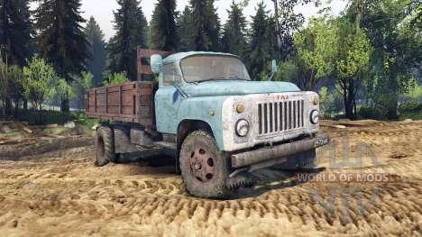 GAZ-53 blue for Spin Tires