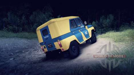 UAZ-B police of the USSR for Spin Tires