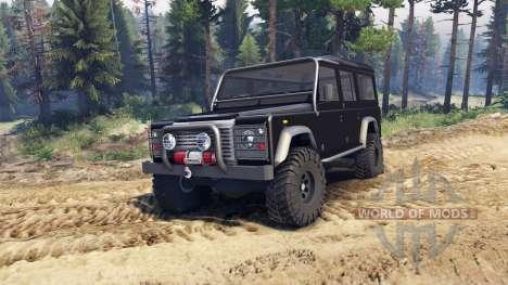 Land Rover Defender 110 black for Spin Tires