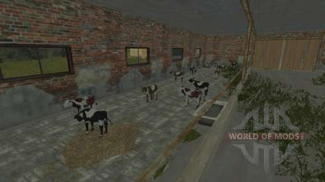 The pens for cows and pigs for Farming Simulator 2013