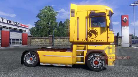 The skin Securetrans on tractor Renault for Euro Truck Simulator 2