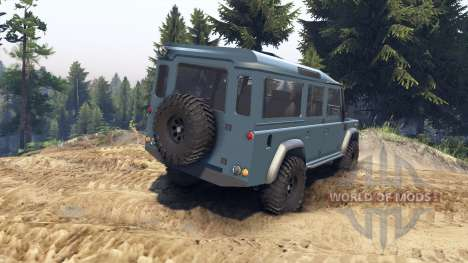 Land Rover Defender 110 blue metalic for Spin Tires