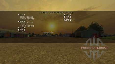 VehicleGroups Switcher v0.97 for Farming Simulator 2013