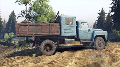 GAZ-53 blue for Spin Tires
