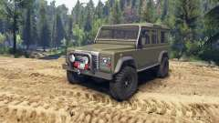 Land Rover Defender 110 flat green