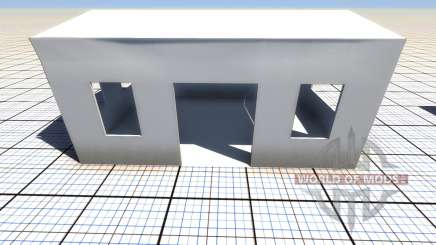 Destructible building for BeamNG Drive