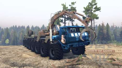 KrAZ 7E 6316 Trans-Siberia v1.1 for Spin Tires