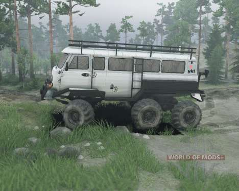 UAZ 6x6 for Spin Tires