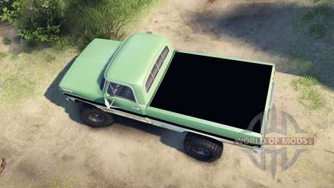 Ford F-200 1968 green and white for Spin Tires
