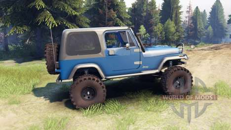 Jeep YJ 1987 blue for Spin Tires