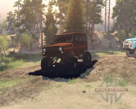 UAZ hunter for Spin Tires