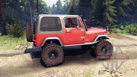 Jeep YJ 1987 red for Spin Tires