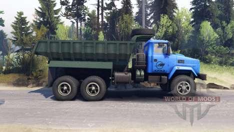 KrAZ-6322 v3.0 blue for Spin Tires
