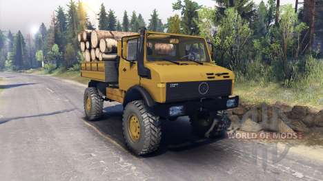 Mercedes-Benz Unimog U1500L for Spin Tires