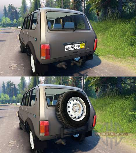 VAZ 2131 Niva for Spin Tires